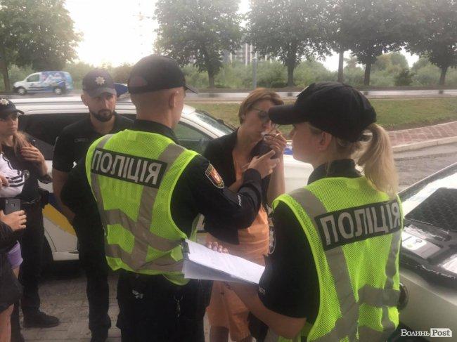"""""""Приймала ліки"""": у Луцьку зловили п'яну водійку, яка вчинила ДТП. ФОТО"""