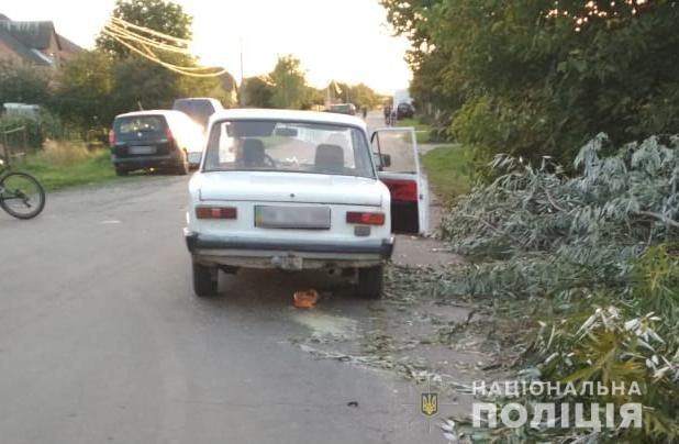 Біля Луцька авто збило п'яного чоловіка. ФОТО