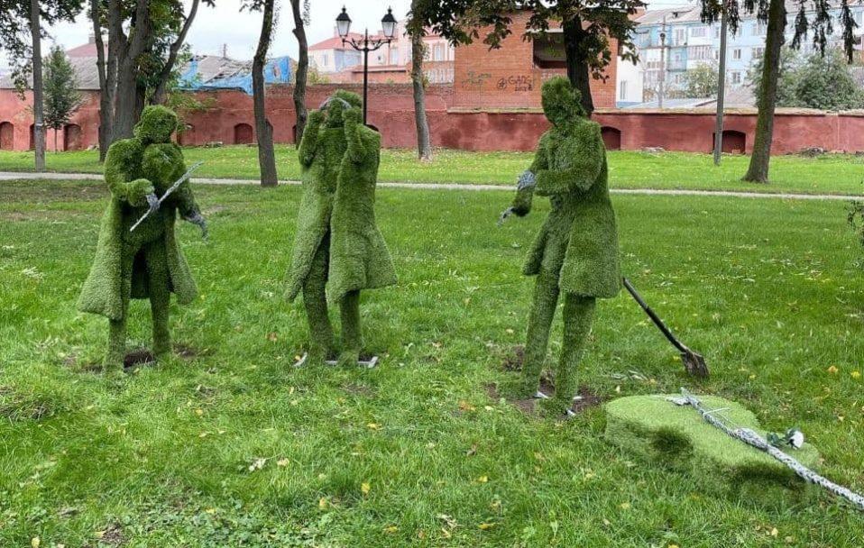 У Володимирі-Волинському відкрили парк вічнозелених скульптур. ФОТО